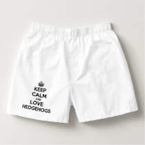 Keep Calm and Love Hedgehogs Boxers