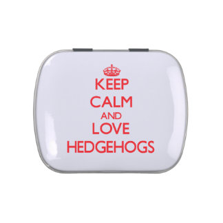 Keep calm and love Hedgehogs Jelly Belly Tin