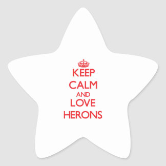 Keep calm and love Herons Star Sticker