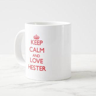 Keep calm and love Hester Extra Large Mug