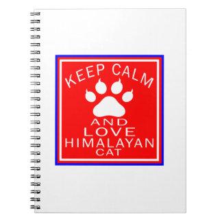 Keep Calm And Love Himalayan Spiral Notebooks