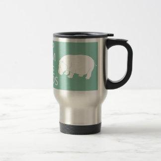 Keep Calm and Love Hippos Print Hippopotamus 15 Oz Stainless Steel Travel Mug