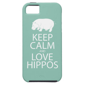 Keep Calm and Love Hippos Print Hippopotamus iPhone SE/5/5s Case