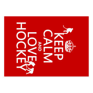 Keep Calm and Love Hockey (customize color) Business Cards