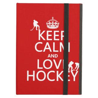 Keep Calm and Love Hockey (customize color) iPad Air Case