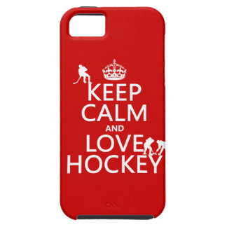 Keep Calm and Love Hockey (customize color) iPhone SE/5/5s Case