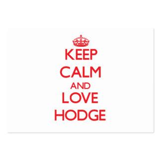 Keep calm and love Hodge Business Card