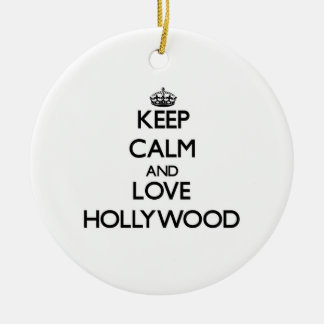 Keep Calm and love Hollywood Christmas Tree Ornament