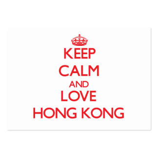 Keep Calm and Love Hong Kong Business Cards