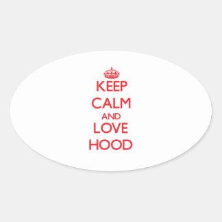 Keep calm and love Hood Stickers