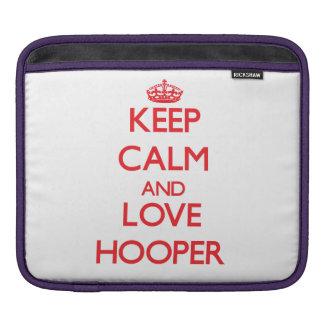 Keep calm and love Hooper Sleeves For iPads