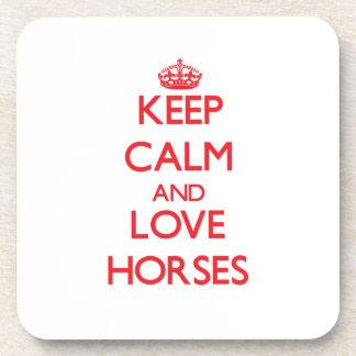 Keep calm and love Horses Coasters