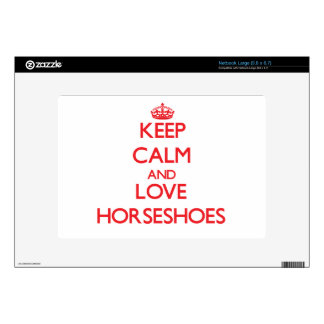 Keep calm and love Horseshoes Netbook Decal