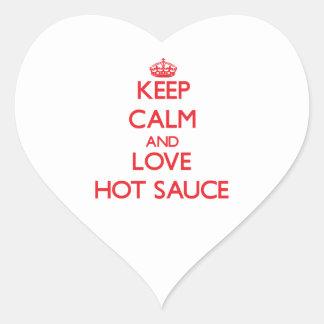 Keep calm and love Hot Sauce Sticker