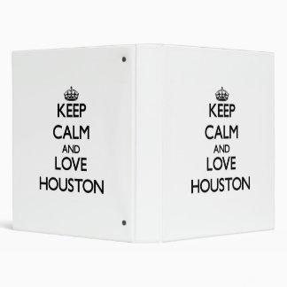 Keep Calm and love Houston Binder