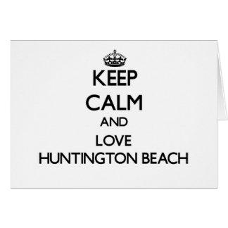 Keep Calm and love Huntington Beach Stationery Note Card