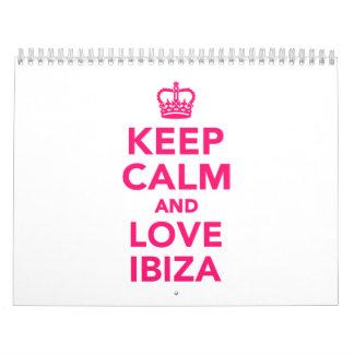 Keep calm and love Ibiza Calendar
