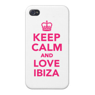 Keep calm and love Ibiza iPhone 4 Cases
