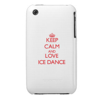 Keep calm and love Ice Dance Case-Mate iPhone 3 Cases