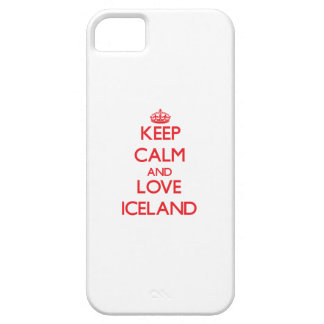 Keep Calm and Love Iceland iPhone 5 Covers
