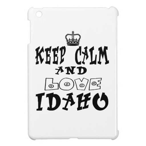 Keep calm and love Idaho Cover For The iPad Mini