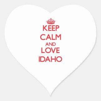 Keep Calm and Love Idaho Stickers