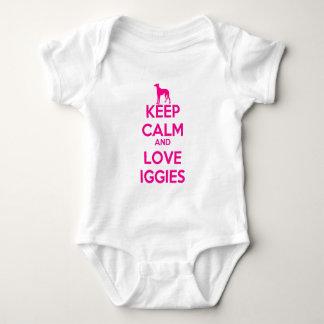 Keep Calm and Love Iggies Baby Bodysuit