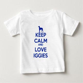 Keep Calm and Love Iggies Baby T-Shirt
