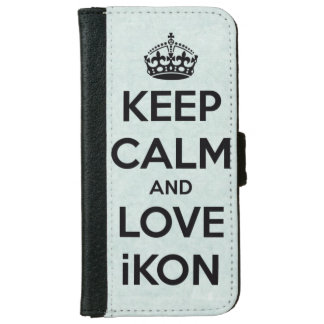 Keep calm and love IKON Wallet Phone Case For iPhone 6/6s