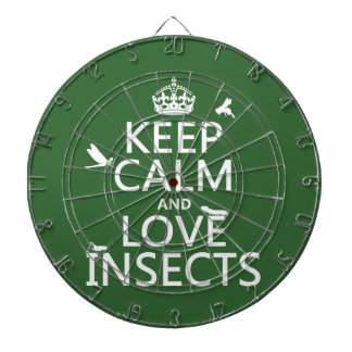 Keep Calm and Love Insects (any background colour) Dartboard With Darts