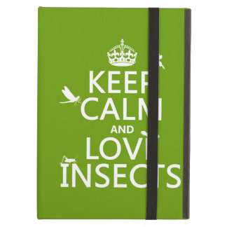 Keep Calm and Love Insects (any background colour) iPad Covers
