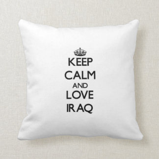 Keep Calm and Love Iraq Throw Pillow