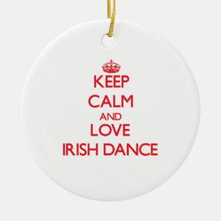 Keep calm and love Irish Dance Christmas Tree Ornaments
