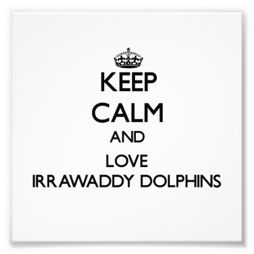 Keep calm and Love Irrawaddy Dolphins Art Photo