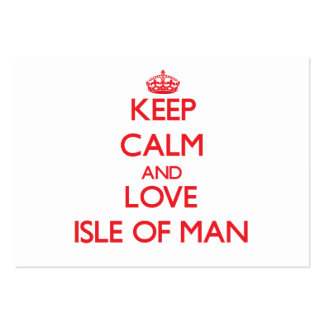 Keep Calm and Love Isle Of Man Large Business Cards (Pack Of 100)