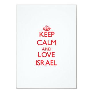 "Keep Calm and Love Israel 5"" X 7"" Invitation Card"