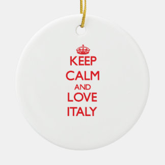Keep Calm and Love Italy Christmas Tree Ornament