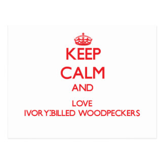 Keep calm and love Ivory-Billed Woodpeckers Postcard