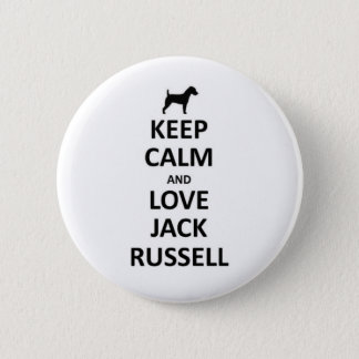 Keep calm and love Jack russell.jpg Pinback Button