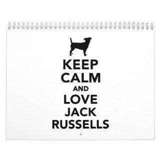 Keep calm and love Jack Russells Calendar