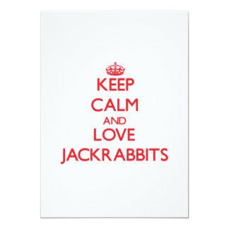 Keep calm and love Jackrabbits 5x7 Paper Invitation Card