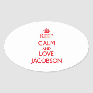 Keep calm and love Jacobson Oval Stickers