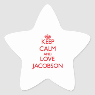 Keep calm and love Jacobson Star Stickers