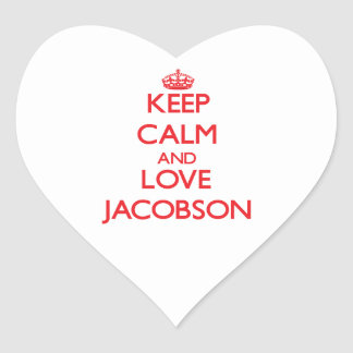 Keep calm and love Jacobson Heart Sticker