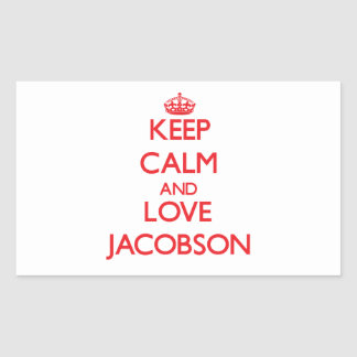 Keep calm and love Jacobson Stickers