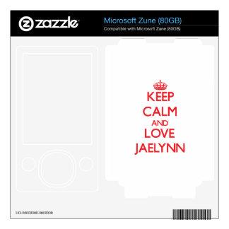 Keep Calm and Love Jaelynn Zune Skin