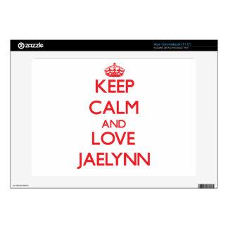 Keep Calm and Love Jaelynn Acer Chromebook Decal