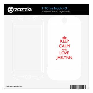 Keep Calm and Love Jaelynn HTC myTouch 4G Skin