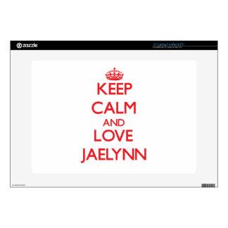 """Keep Calm and Love Jaelynn 15"""" Laptop Skin"""