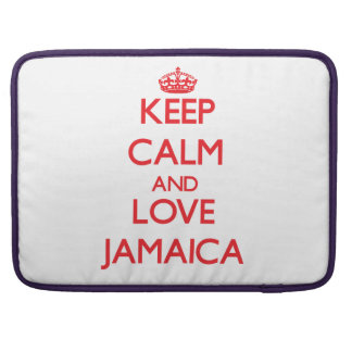 Keep Calm and Love Jamaica MacBook Pro Sleeves